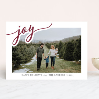 Merry Swirling Holiday Photo Cards