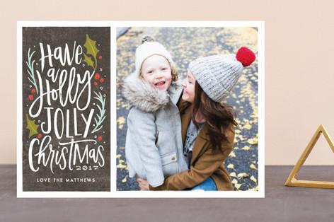 holly jolly cheer Holiday Photo Cards