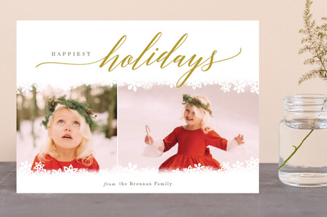 Snowed In Holiday Photo Cards