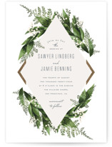 Diamante Foil-Pressed Wedding Invitation Petite Cards