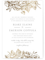 Gilded Wildflowers Foil-Pressed Wedding Invitation Petite Cards