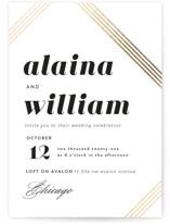 Modern Strands Foil-Pressed Wedding Invitations