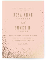 Bubbly Foil-Pressed Wedding Invitations