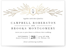 Gilded Crest Foil-Pressed Wedding Invitations