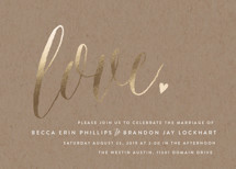 Charming Love Foil-Pressed Wedding Invitations By Melanie Severin