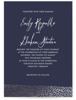 Sprinkled Love Foil-Pressed Wedding Invitations