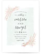 Blooming Corners Foil-Pressed Wedding Invitations