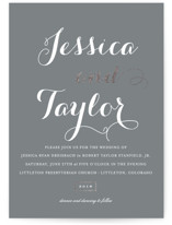 Just Lovely Foil-Pressed Wedding Invitations