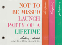 Launch Party of a Lifetime Wedding Invitation Minibook&amp;trade; Cards