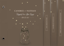 fireflies Wedding Invitation Minibook™ Cards