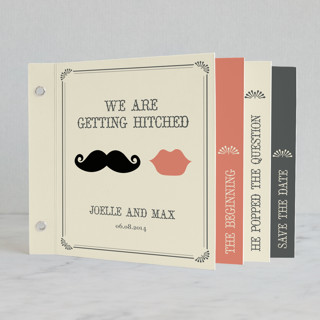 Stache + Kiss Wedding Invitation Minibook™ Cards
