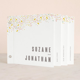 "Modern Dotted Blooms in White Wedding Invitation Minibookâ""¢ Cards"