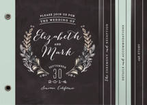 Chalkboard Accents Wedding Invitation Minibook™ Cards