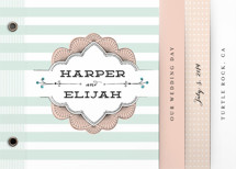 Striped Sweet Nothings Wedding Invitation Minibook&amp;trade; Cards