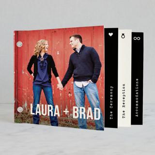 Modern Union Wedding Invitation Minibook™ Cards