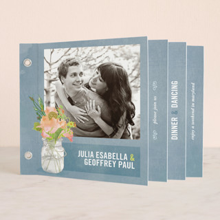 Bouquet D'Amour Wedding Invitation Minibook™ Cards