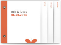 Grow Wedding Invitation Minibook&amp;trade; Cards