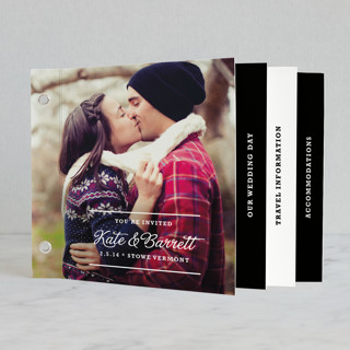 "The Official Guidebook Wedding Invitation Minibookâ""¢ Cards"