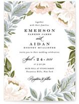 Peony Floral Frame Wedding Invitation Petite Cards