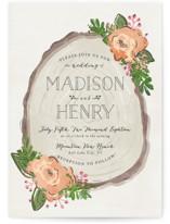Rustic Wooded Romance Wedding Invitation Petite Cards