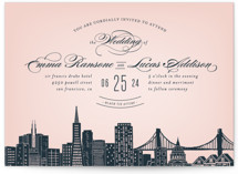 Big City - San Francisco Wedding Invitation Petite Cards