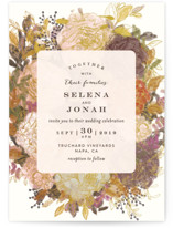 Floral Feast Wedding Invitation Petite Cards