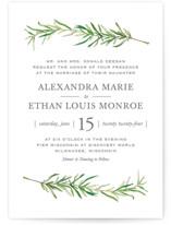 Simple Sprigs Wedding Invitation Petite Cards