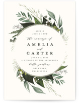 Natures Greens Wedding Invitation Petite Cards