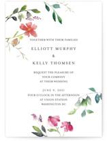Spring Wildflowers Wedding Invitation Petite Cards
