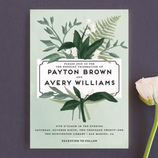 Botanical Name Plate Wedding Invitation Petite Cards