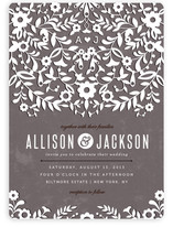 Paper Flowers Wedding Invitations