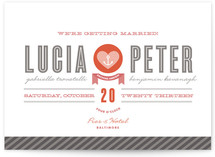 Maritime Stripe Wedding Invitations