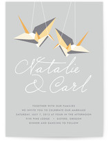 Paper Cranes Wedding Invitations