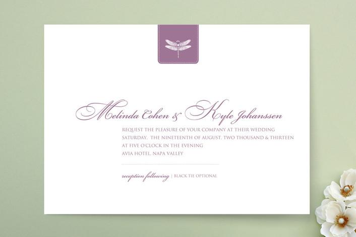 Классический Dragonfly Свадебные приглашения герба
