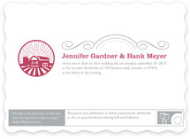 Iconic Barnyard Wedding Invitations