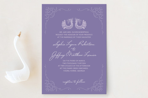 Whimsical Peacock Wedding Invitations