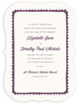 Simple Scallop Wedding Invitations