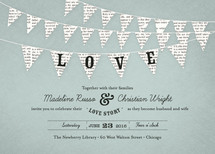 Love Story Wedding Invitations By cadence paige design