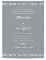 Ornamental Formal Wedding Invitations