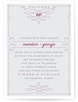 Mr. Watters Wedding Invitations