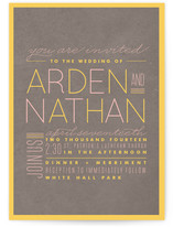 Neon Line Wedding Invitations