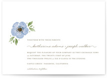 Painted Flower Wedding Invitations