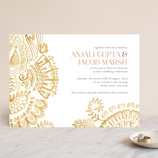 Modern Mehndi Wedding Invitations