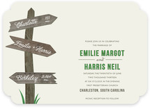 Wedding This Way Wedding Invitations