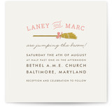 Simple Broom Wedding Invitations