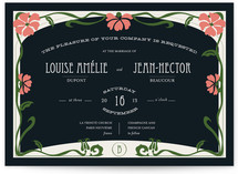 Champagne & French Cancan Wedding Invitations