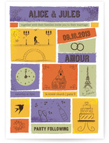Paris Doodles Wedding Invitations
