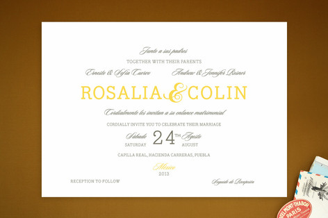 Traditional Tequila Wedding Invitations