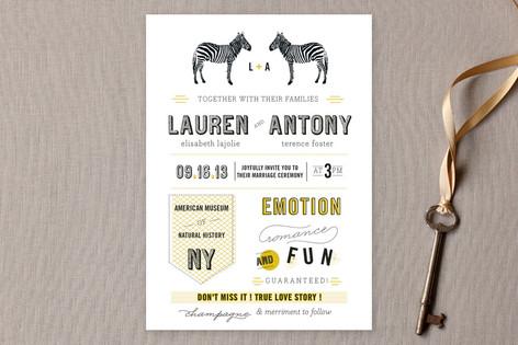 The Zebras Wedding Invitations