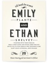 Delightfully Dark Wedding Invitations